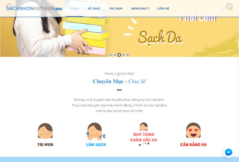 Giao diện Sachnhonhetmun.com